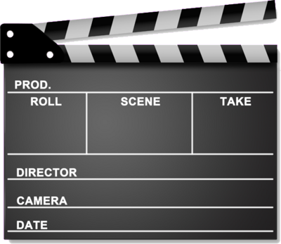 Movie Scene Clap Board