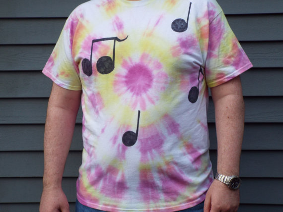 Music Note Tie Dye Shirt