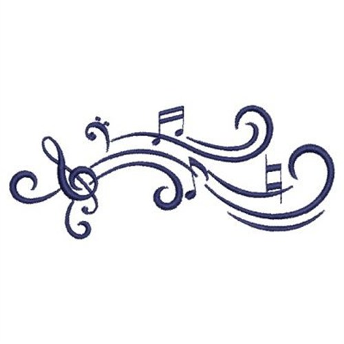 Music Notes Embroidery Designs