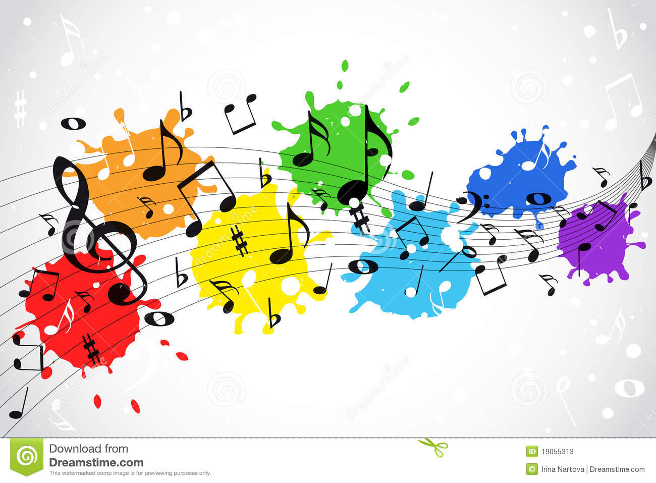 Music Notes with Color