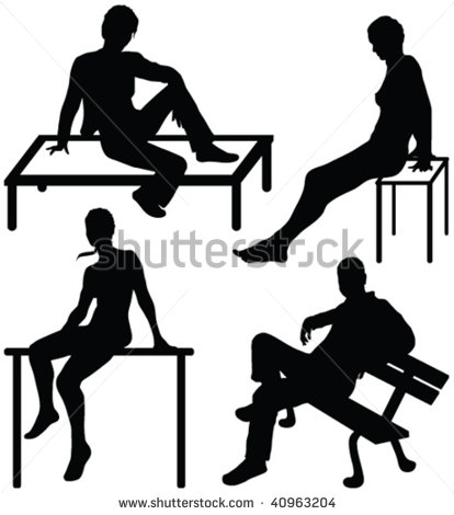 Person Sitting Silhouette Vector