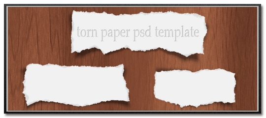 Photoshop Torn Paper Template