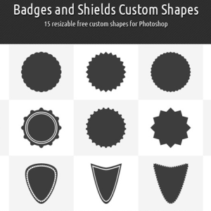 13 Photoshop Logo Crest Shapes Images