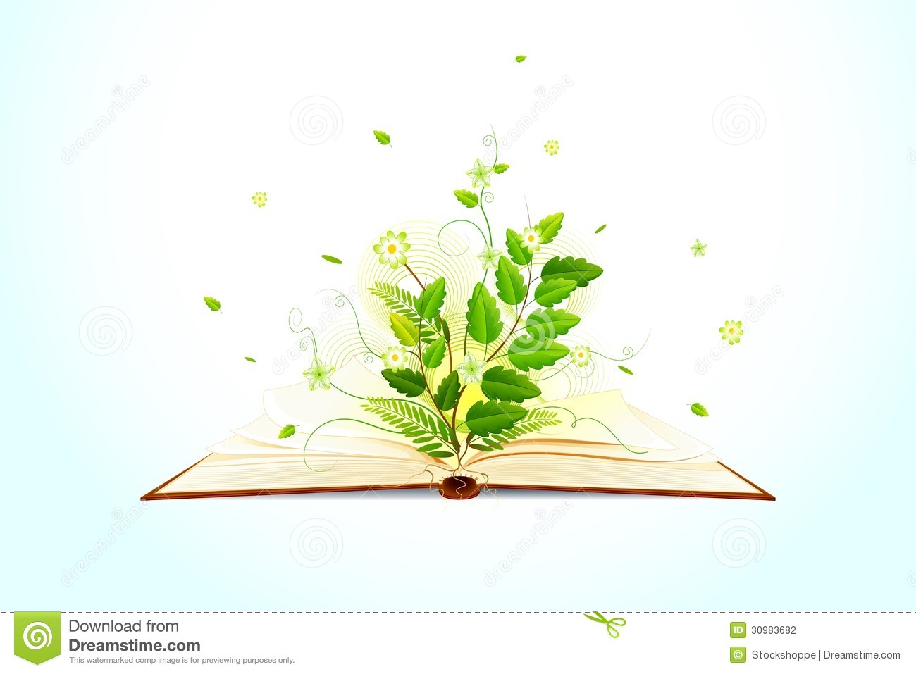 Plants Growing Out of Books