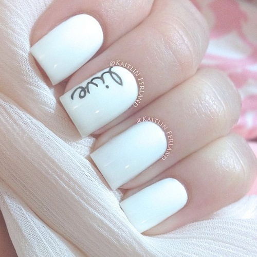 15 White Nail Art Designs Images