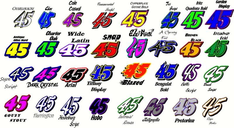 Race Car Lettering Templates