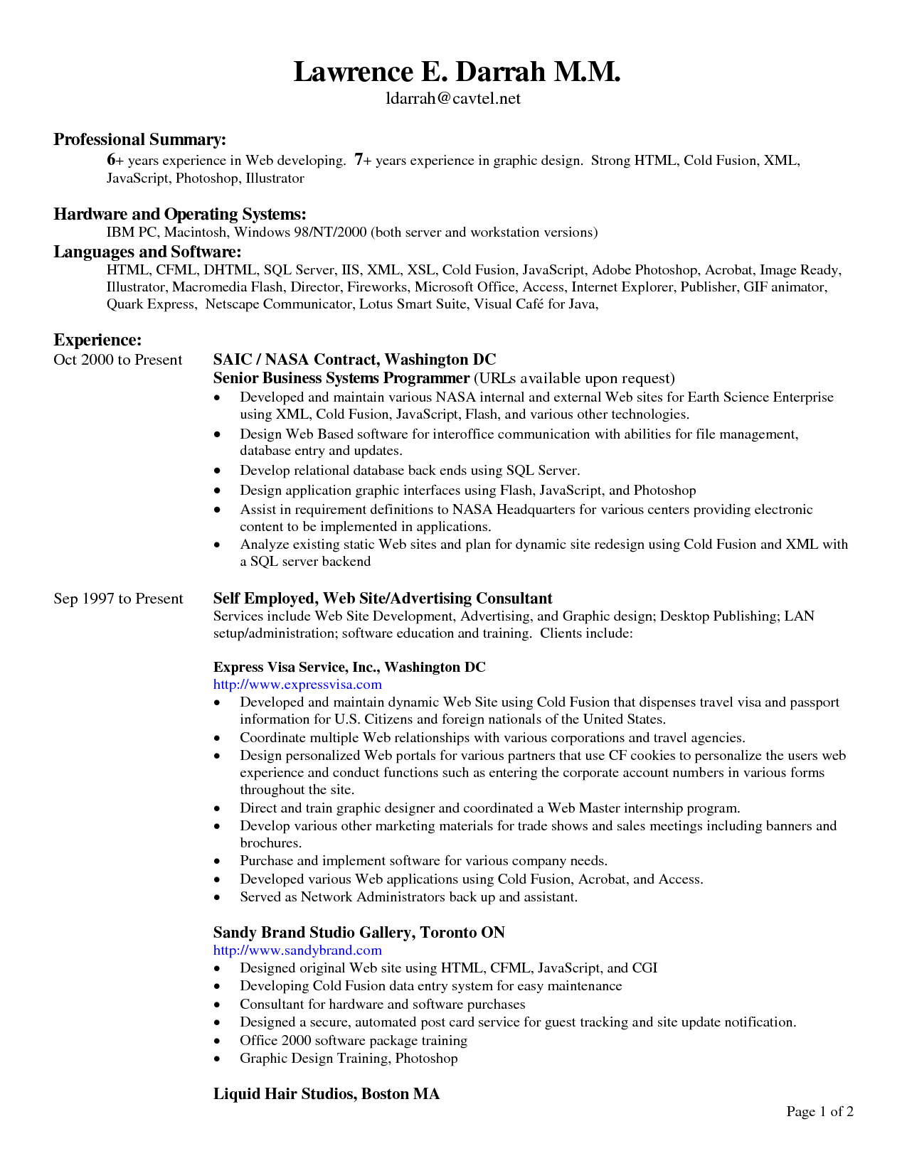 sample resume header ideal vistalist co