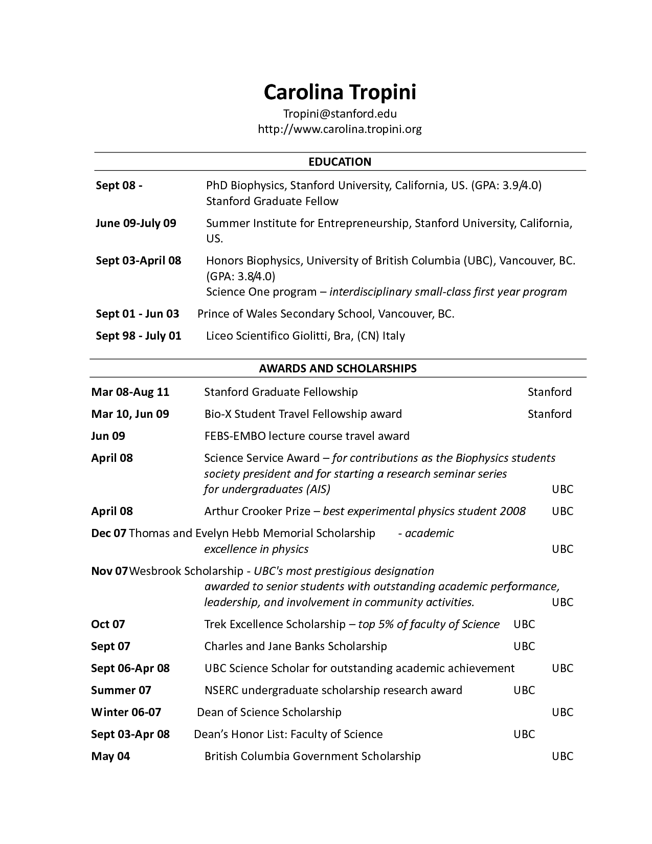 heading resume - Resume Header Templates
