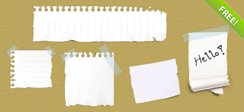 Ripped Paper PSD Template Free