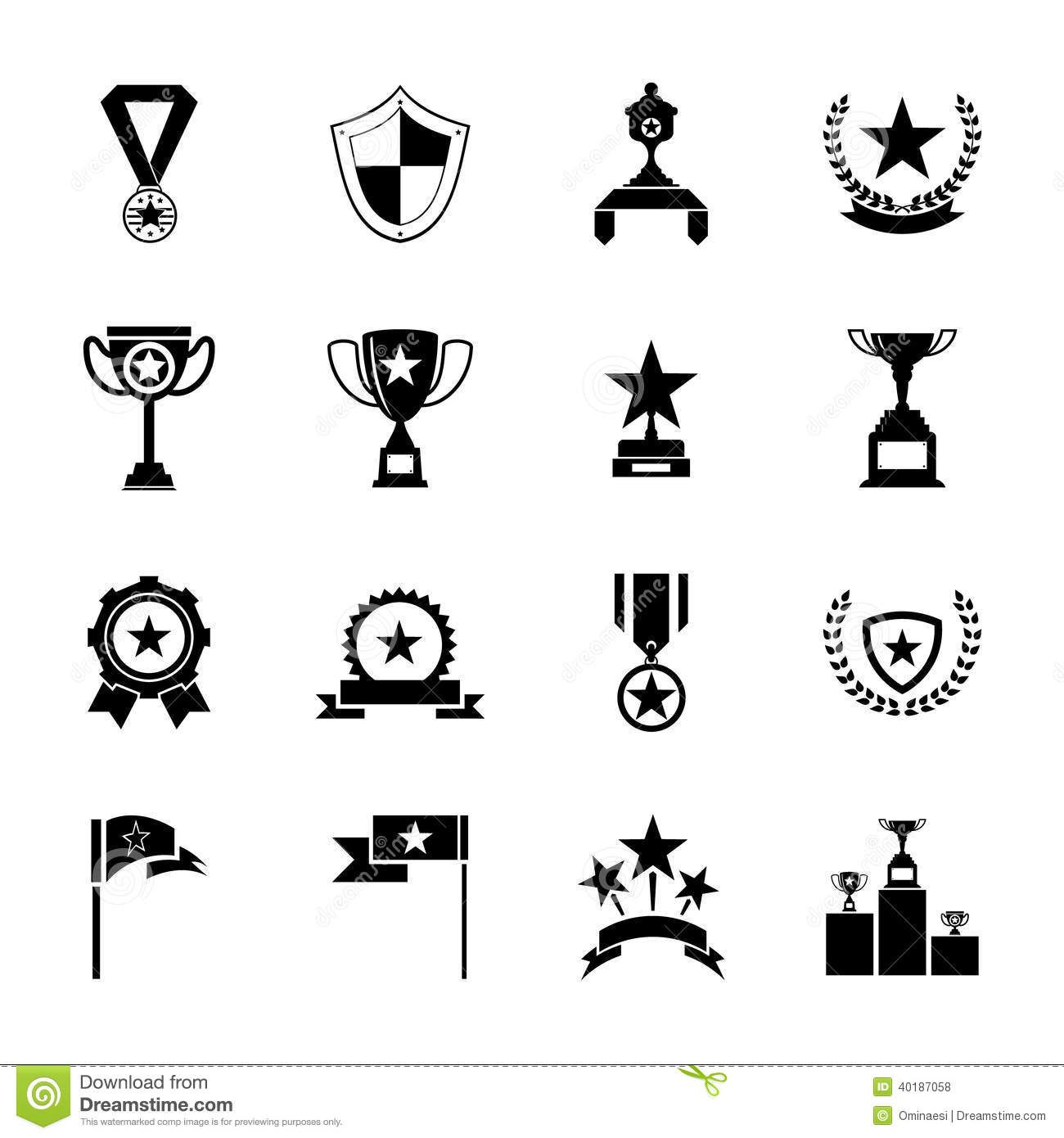 Silhouette Award Trophy Images