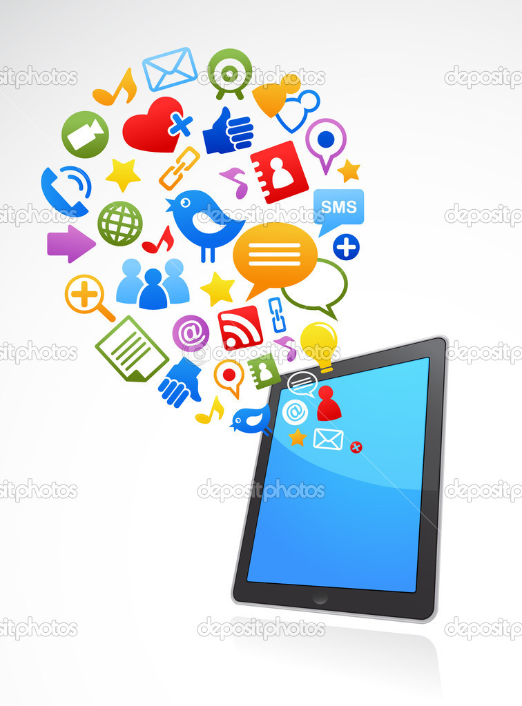 13 A Social Media Icons On Phone Images