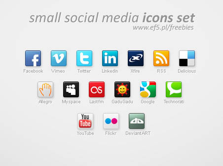 17 Free Social Icons Small Images