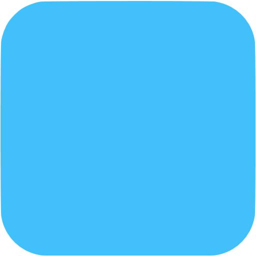 Square App Icon Blue