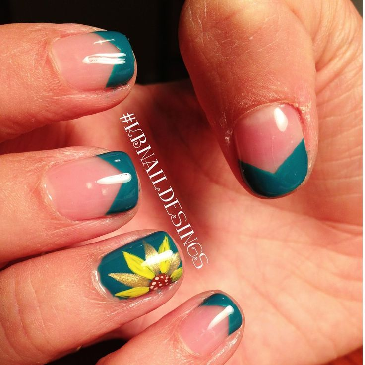 9 Sunflower Nail Design Images