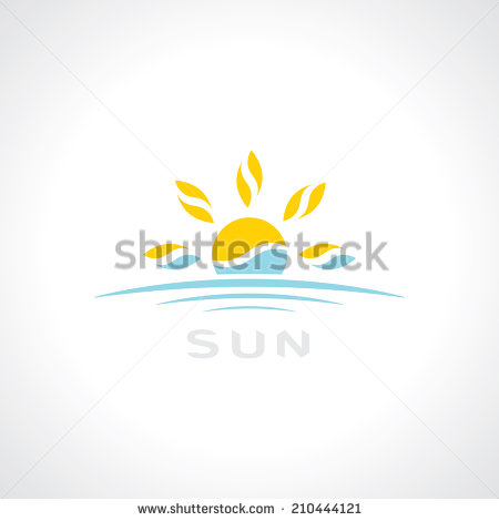 12 Sunrise Watercolor Logo Design Vector Images