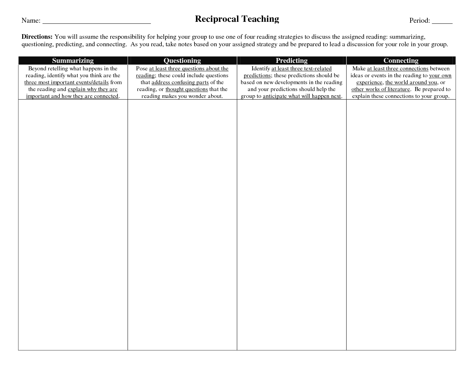 Worksheets Reciprocal Teaching Worksheet 15 graphic organizers for teachers images teaching organizers