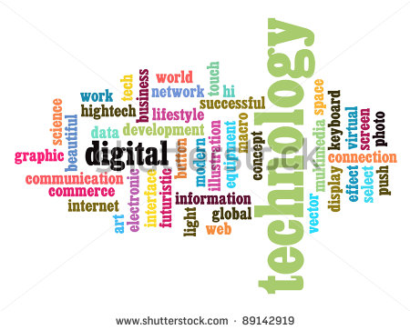 Technology Word Cloud Graphic