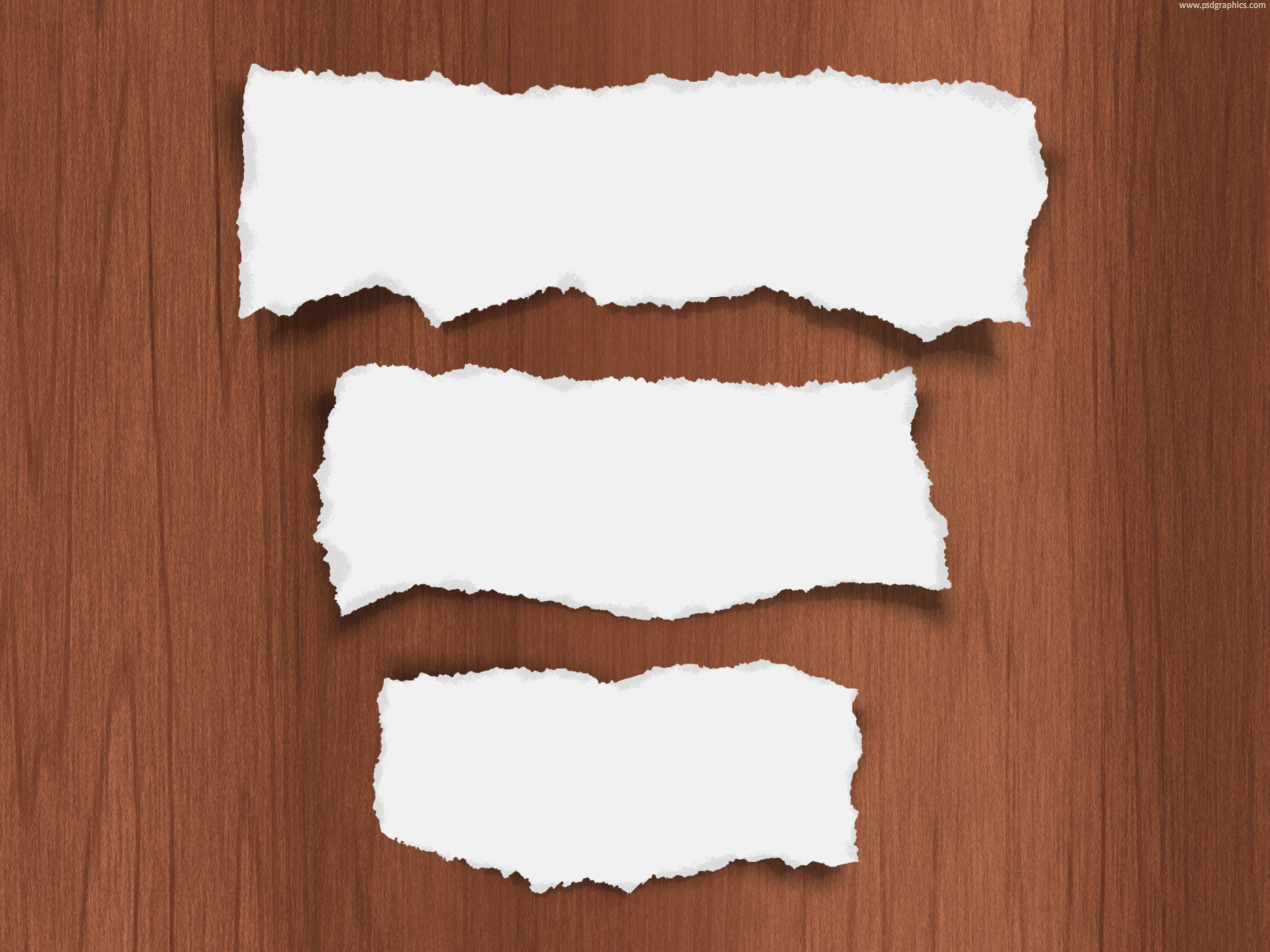 Torn Paper Template