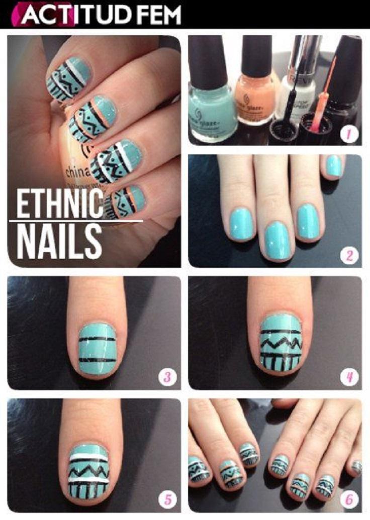 Nail Art Tribal Designs - NailArts Ideas