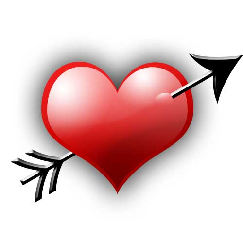 Valentine's Day Heart with Arrow