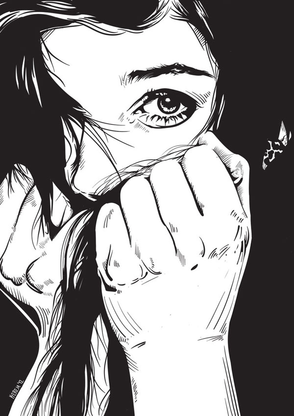 Vector Art Portrait Illustration