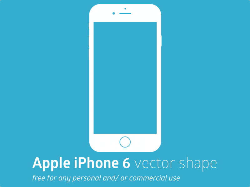 8 Free Vector IPhone 6 Images