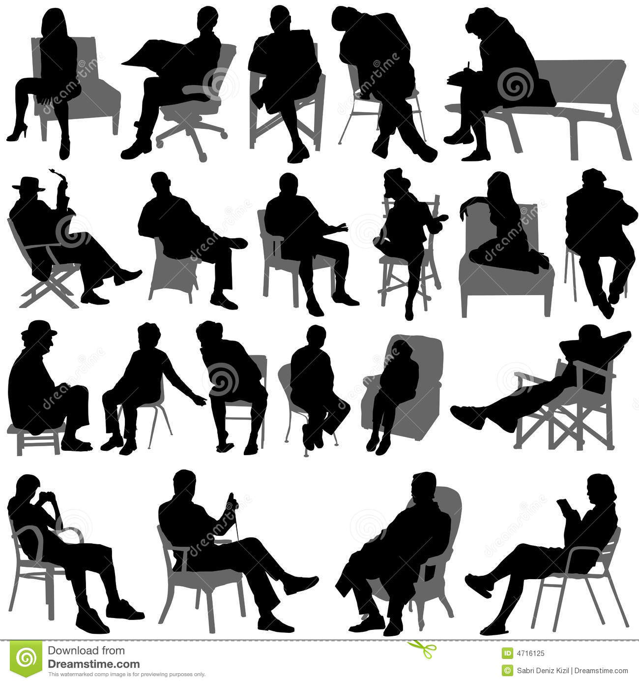 19 Vector People Sitting Images