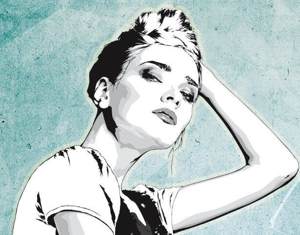 how to make a vector portrait in illustrator