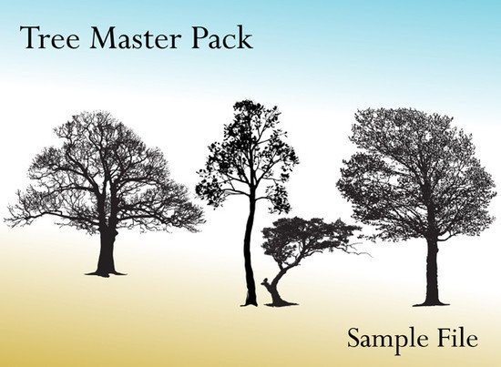 Vector Tree Brush Photoshop