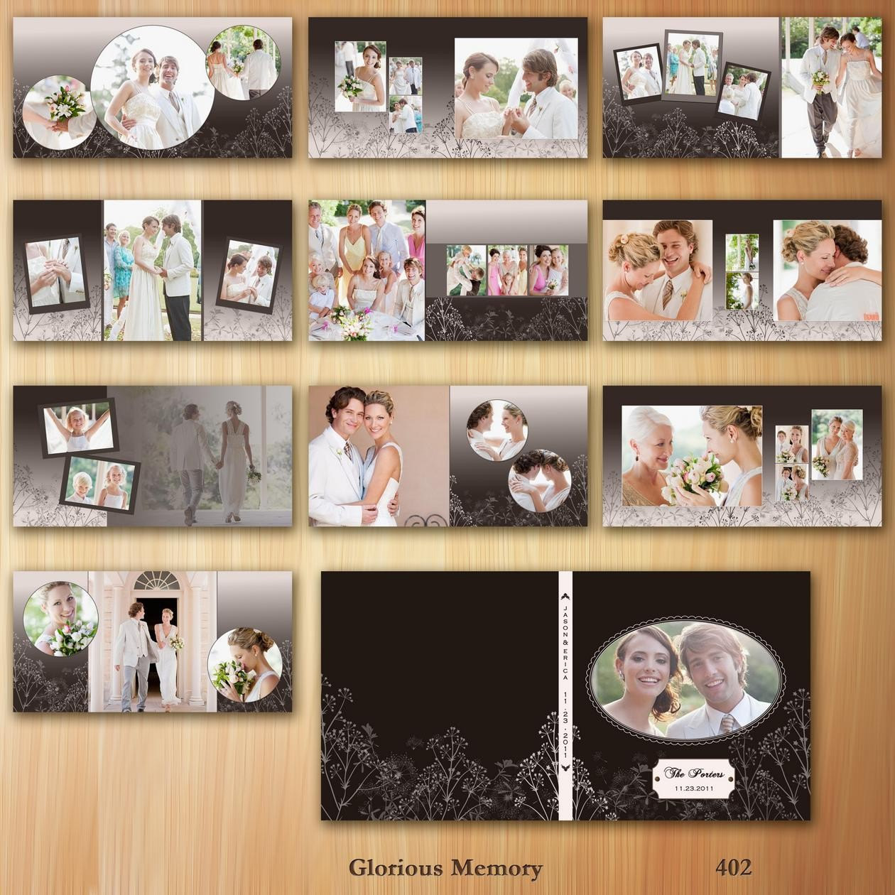 10 free wedding album templates photoshop images free for Wedding photo album templates in photoshop