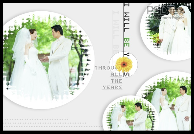 Wedding CD Cover Design Template