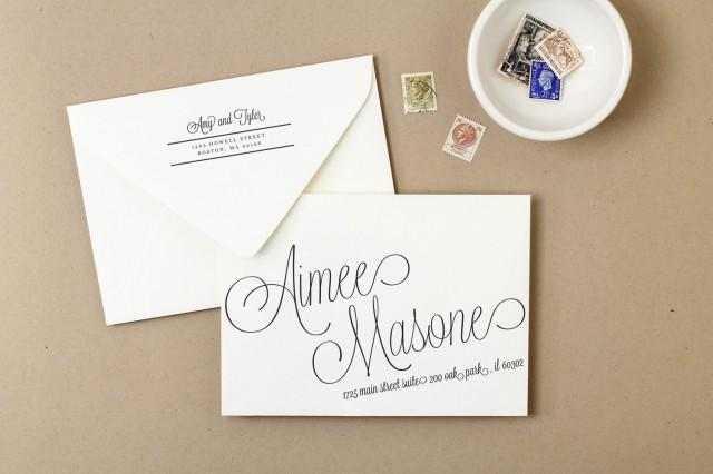Calligraphy envelope templates images diy