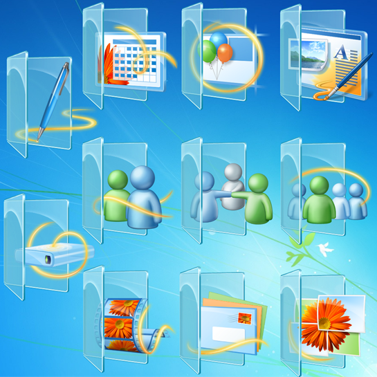 11 Windows Folder Icon Pack Images - Windows 7 Folder Icon Pack