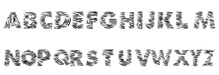 Zebra Print Font