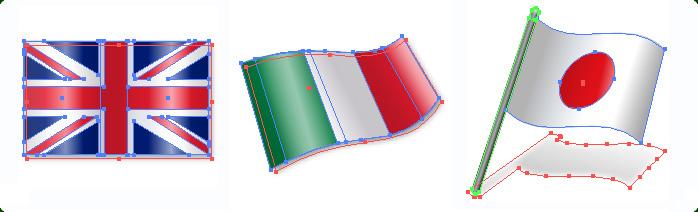 10 Plain Flag Vector Images
