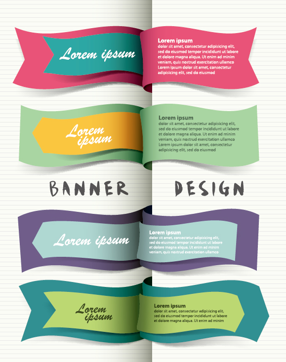 14 Simple Banner Vector Images