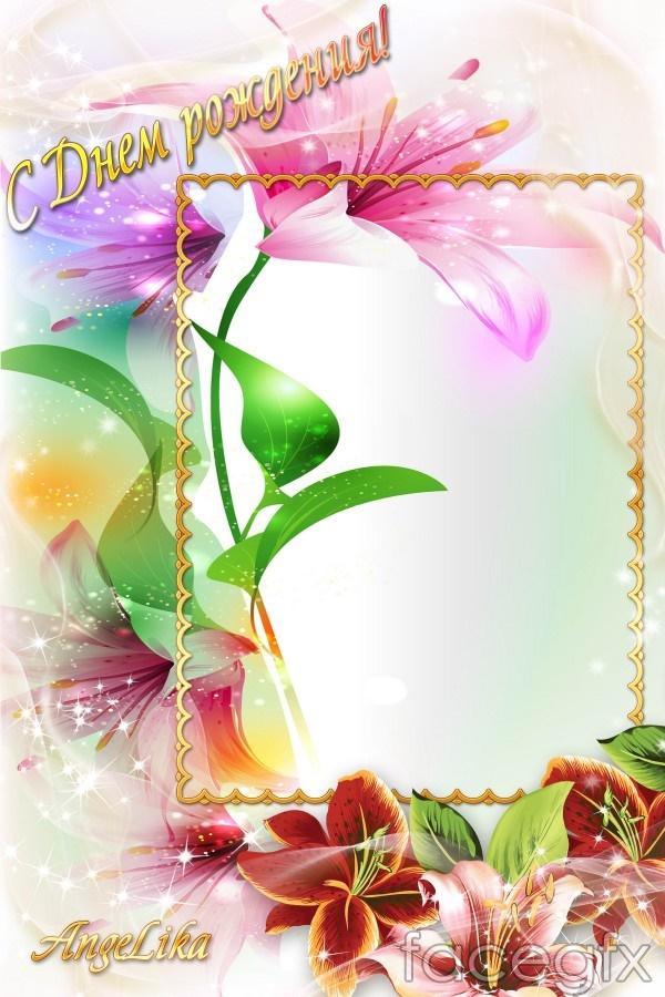 9 Spring Flower PSD Images