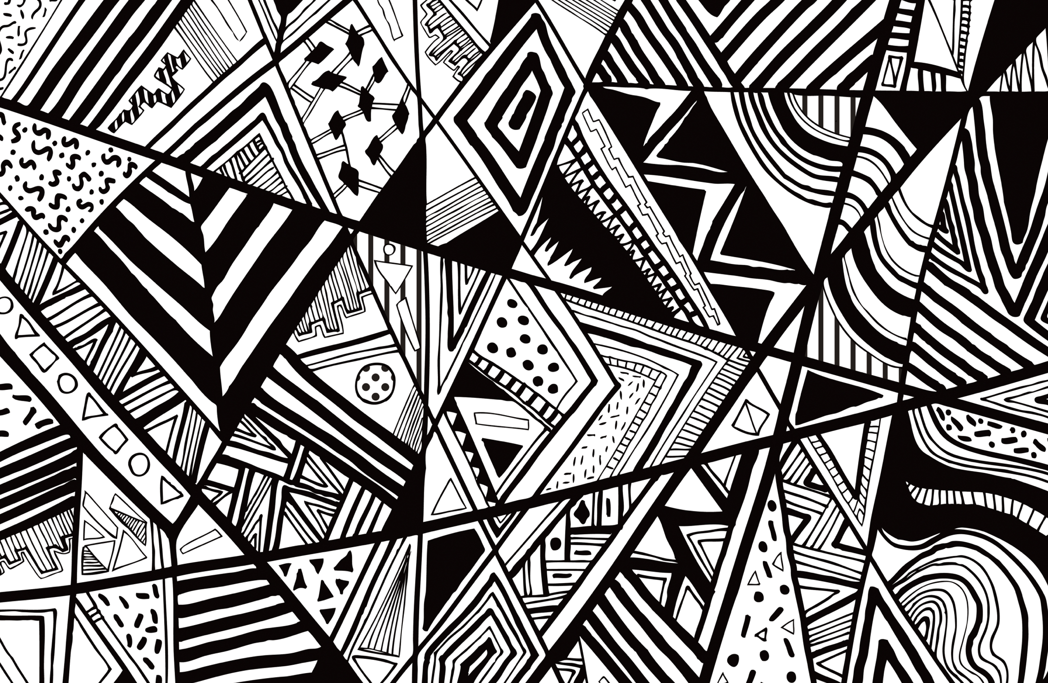 Black And White Abstract Line Patterns