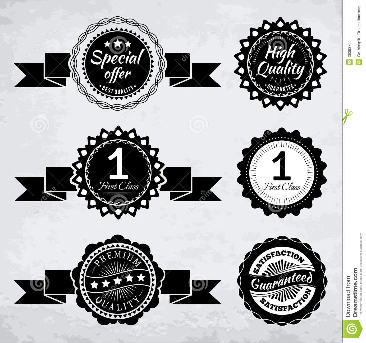 10 Black And White Oval Design Retro Badge Vectors Images