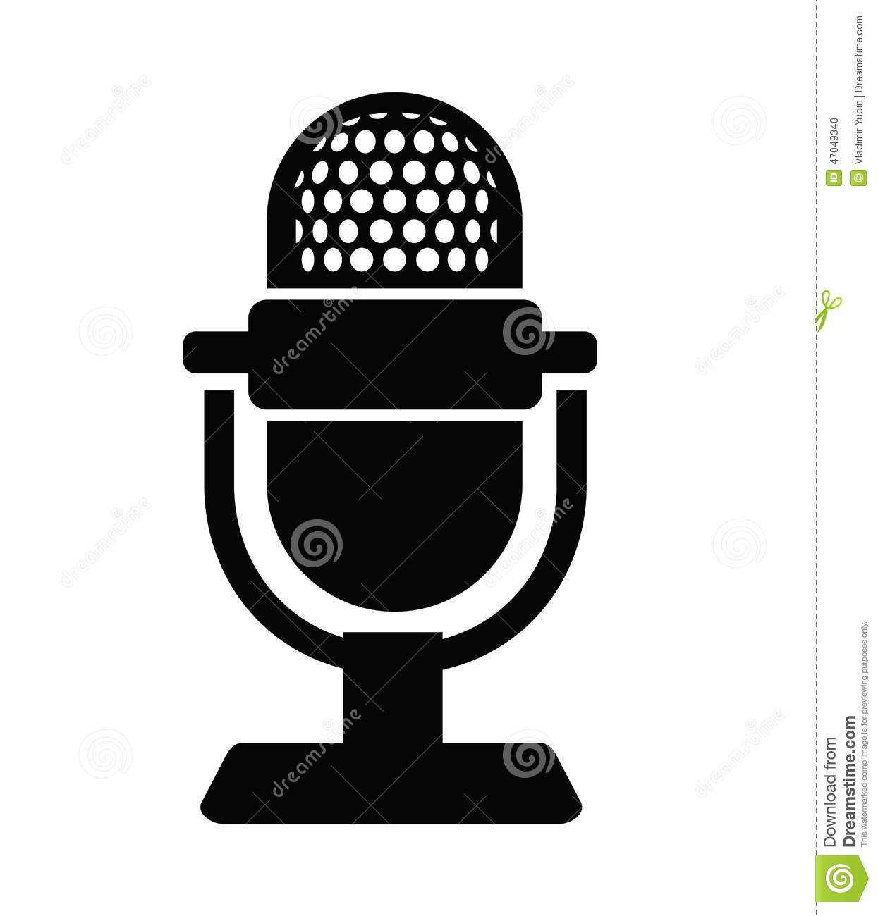 8 Black Microphone Icon Images