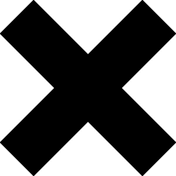 16 Black X Icon Images