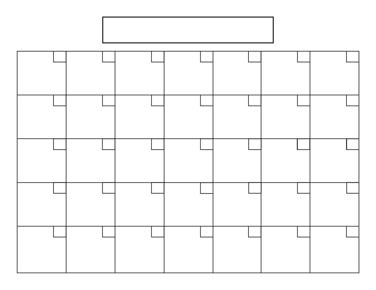 15 Calendar Grid Template Images