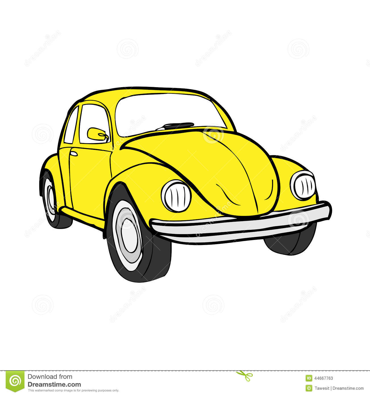 Cartoon Beetle Bug Car
