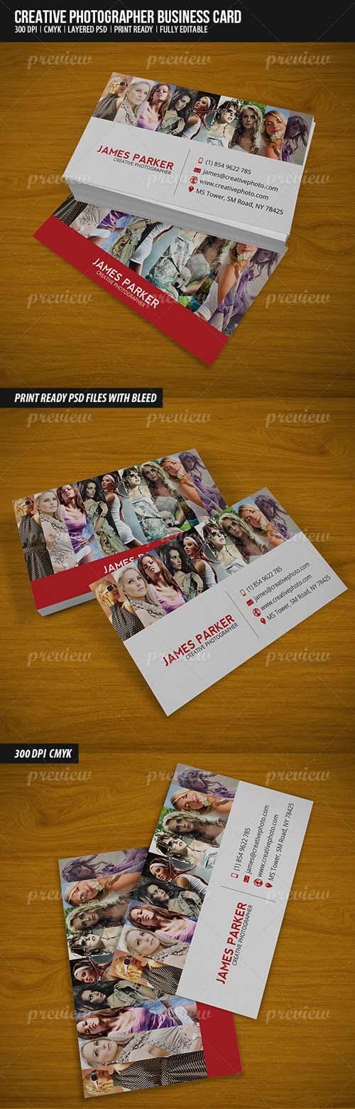 Creative Photographer Business Card