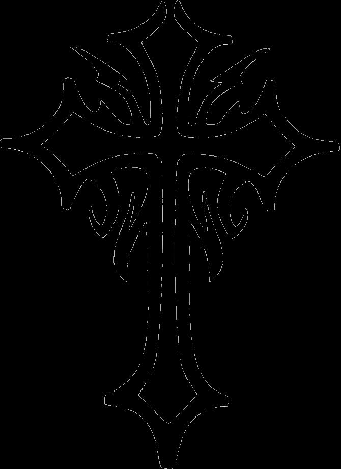 Cross Tattoo Stencil Designs
