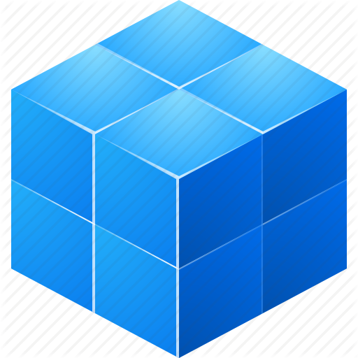 10 Blue Cube Icon.png Images