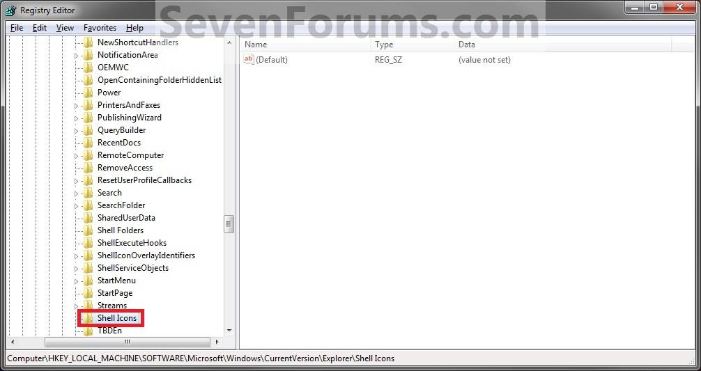 Default Windows 7 Folder Icons