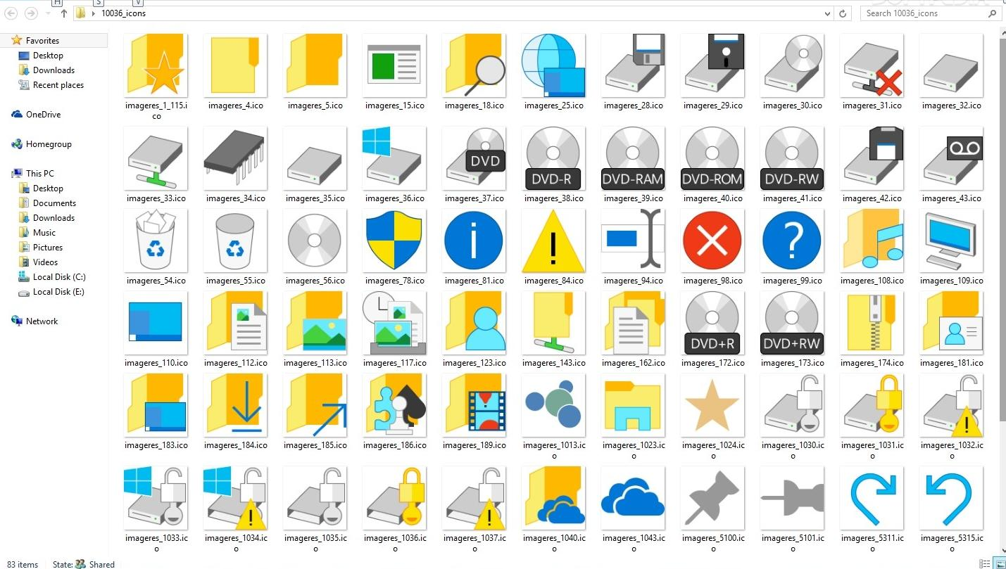 19 Windows 10 Icon Set Images