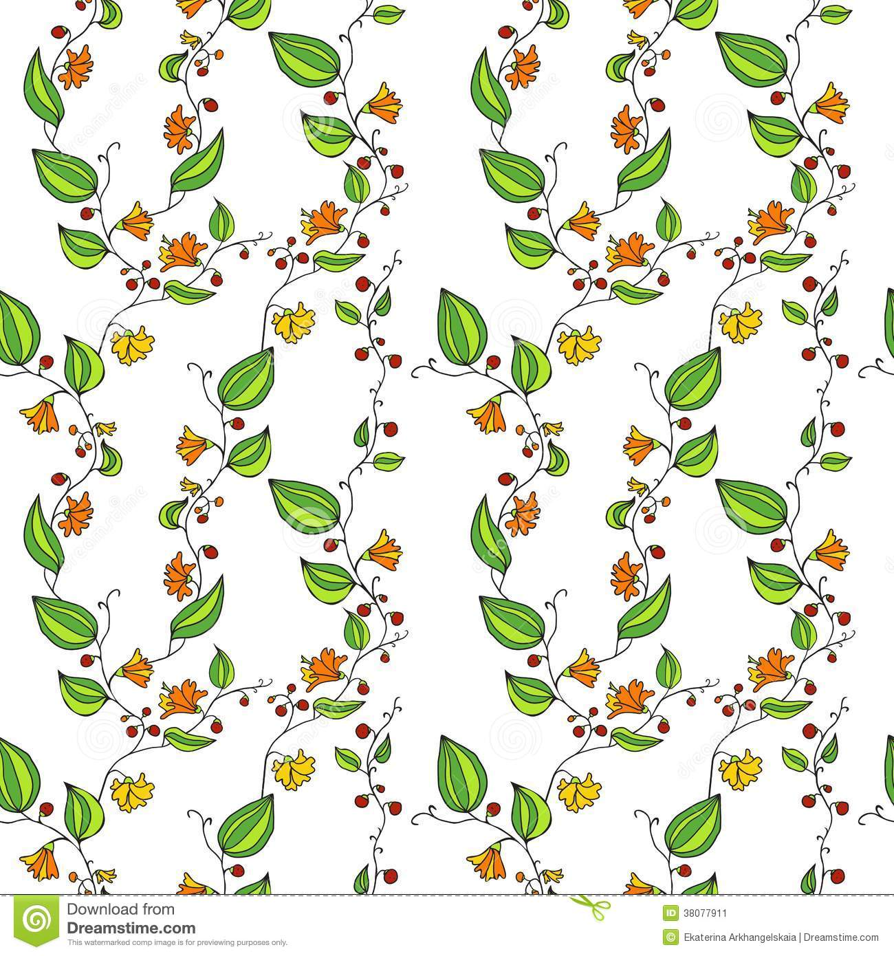 Line Drawing Flower Pattern : Garden flowers vector line art images flower