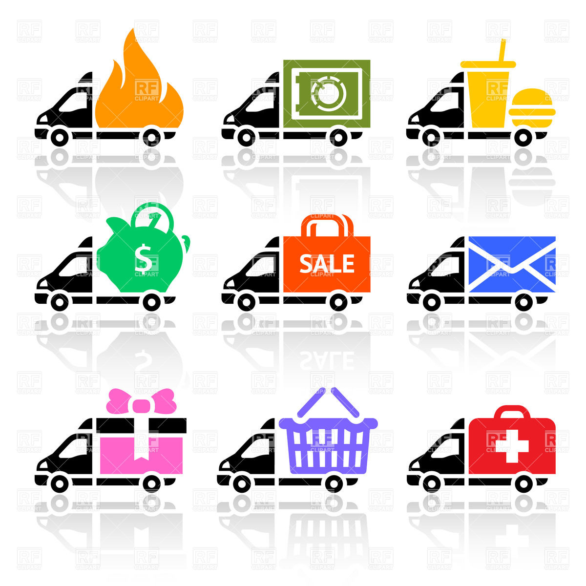 Food Delivery Truck Clip Art